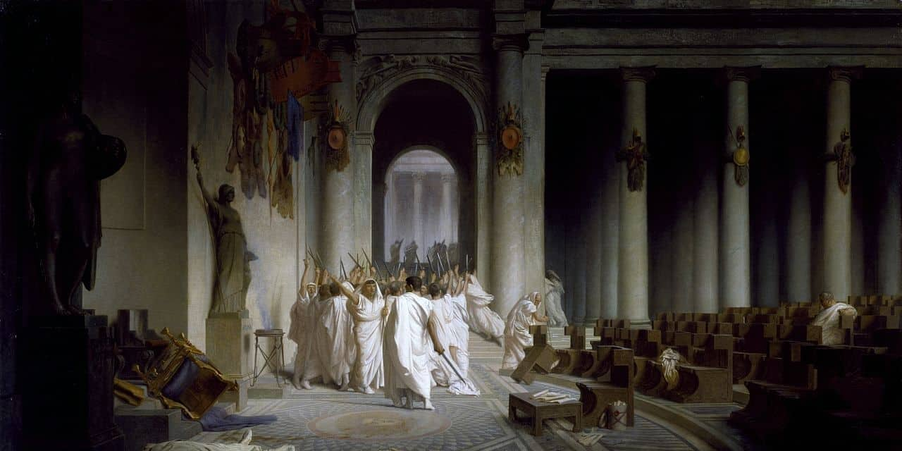 Today In History: Julius Caesar Is Stabbed To Death On The Ides of March (44 BC)