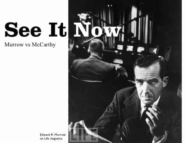 Today In History: TV Show 'See It Now' Challenges McCarthyism… And Wins(1954)