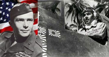 WWII Marine Aviator Decorated With The Medal of Honor on Massive First Mission Shoot Down
