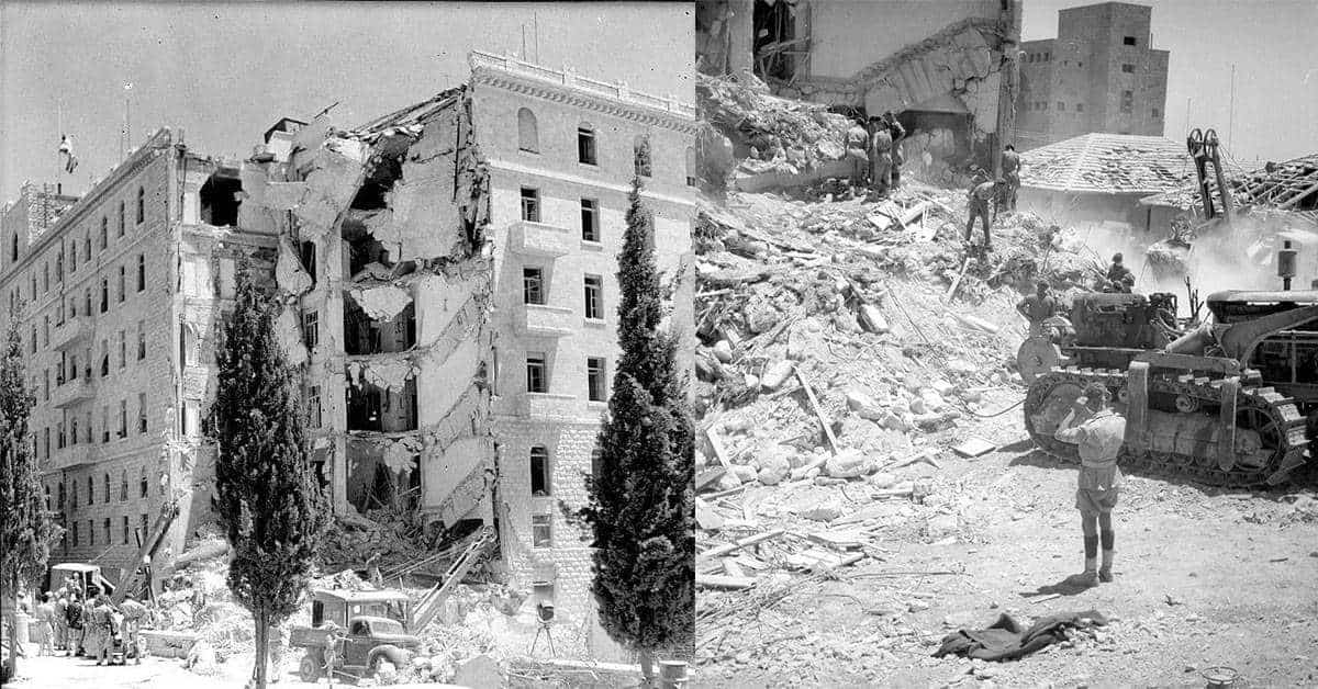 25 Photos of the King David Hotel Bombing of 1946